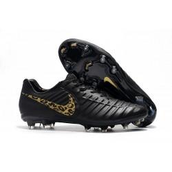 Uomo - Scarpa da Calcio Nike Nuovo Tiempo Legend 7 FG - Nero Bianco Leopardo