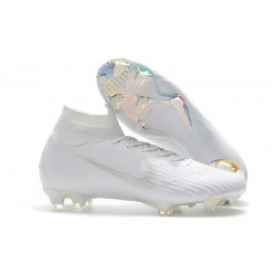 Scarpe Da Calcio Nike Mercurial Superfly VI 360 Elite FG - Uomo Tutto Bianco