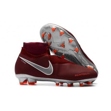 Scarpe da Calcio Nike Phantom Vision Elite DF FG Vino Rosso