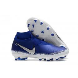 Scarpe da Calcio Nike Phantom Vision Elite DF FG Blu Argento