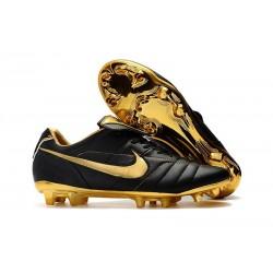 Scarpe Da Calcio Nike Tiempo Legend VII 10R Elite FG Nero Oro Metallico