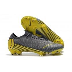 Scarpe Nike Mercurial Vapor 12 FG - Scarpe Nike Calcio Grigio Tuono Nero Grigio Scuro