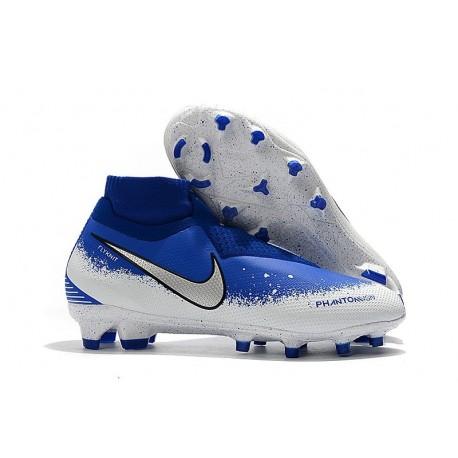 Scarpe da Calcio Nike Phantom Vision Elite DF FG Blu Argento Bianco