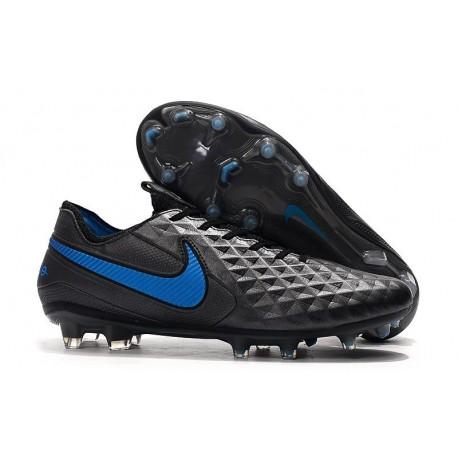 Scarpe Nuovo Nike Tiempo Legend 8 Elite FG Nero Blu