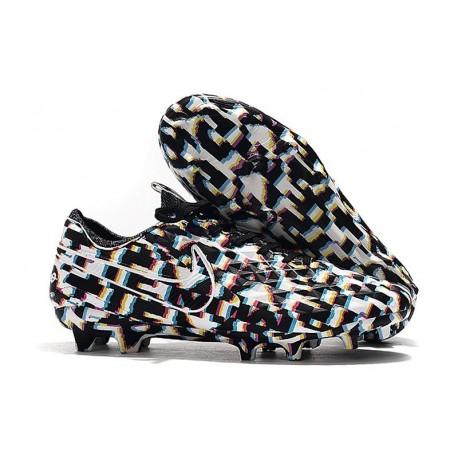Scarpe Nuovo Nike Tiempo Legend 8 Elite FG Nero Bianco