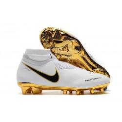 Scarpe da Calcio Nike Phantom Vision Elite DF FG Oro Bianco
