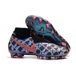Scarpe da Calcio Nike Phantom Vision Elite DF FG Blu Nero Rossa