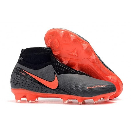 Nike Phantom VSN Elite DF FG Nuovo Scarpa Nero Rosso