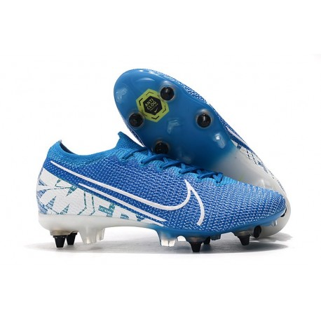 Nike Mercurial Vapor 13 Elite SG-Pro Anti-Clog New Lights Blu Bianco