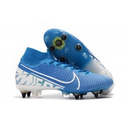 Nike Mercurial Superfly 7 Elite SG-PRO AC New Lights Blu Bianco