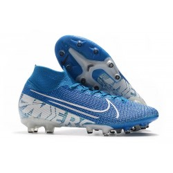 Nike Mercurial Superfly VII Elite AG-Pro New Lights Blu Bianco