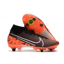 Nike Mercurial Superfly 7 Elite SG-PRO AC Nero Bianco Cremisi Hyper