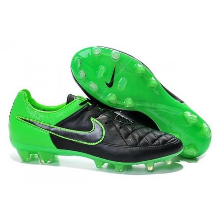 Scarpe da Calcio Uomo Scarpe Nike Tiempo Legend V FG Terreni Compatti Nero Verde