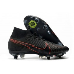 Nike Mercurial Superfly VII Elite SG-PRO Anti Clog Nero Rosso