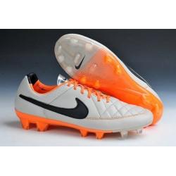 2015 Scarpe da Calcio Uomo Scarpe Nike Tiempo Legend Fg Sabbia Nero Arancione