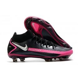 Nike Scarpe Calcio Phantom Gt Elite DF Fg Nero Argento Rosa Blast