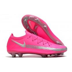 Nike Phantom GT Elite FG Scarpe da Calcio Rosa Argento