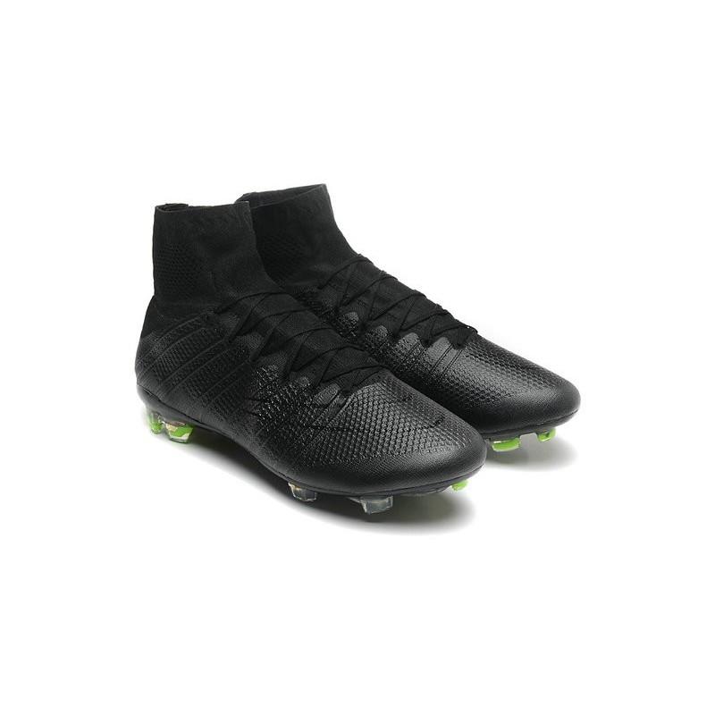 Superfly Nike Nuove Scarpe Calcio Fg Mercurial Tutto Nero F1lKTJc